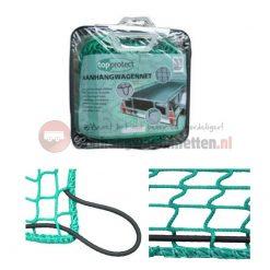 Groen aanhangwagennet 140x200cm incl. elastisch koord, 45mm maaswijdte